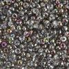 Pony Bead 6/0 Transparent Crystal Vitrail Half Coat